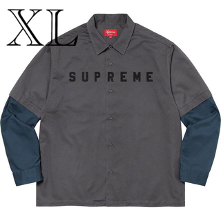 Supreme - Supreme 2-Tone Work Shirt Dark Grey XL