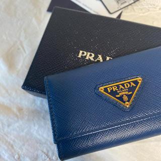 PRADA - 極美品!PRADA プラダ サフィアーノレザー キーケース ロイヤルブルー