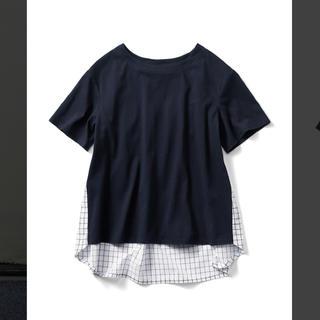 フェリシモ(FELISSIMO)のフェリシモ リブインコンフォート 後ろ美人Tシャツ(Tシャツ(半袖/袖なし))