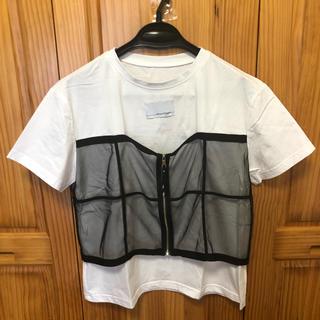 Ameri VINTAGE - 美品 AMERI STUDIOUS 別注 チュールドッキングTシャツ
