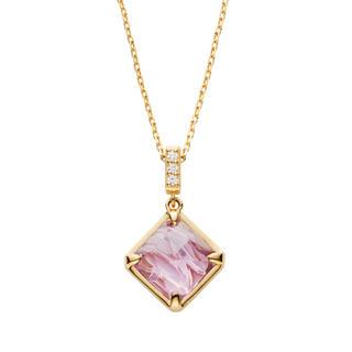 ヴァンドームアオヤマ(Vendome Aoyama)のヴァンドーム青山 K18 ダイヤモンド アメジストネックレス(ネックレス)