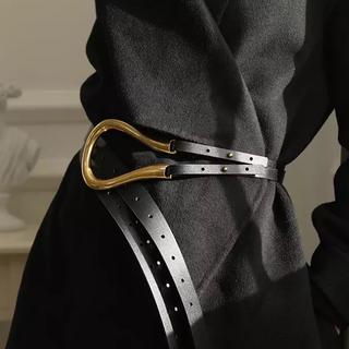 ドゥーズィエムクラス(DEUXIEME CLASSE)のGold Buckle Belt  BLACK(ベルト)