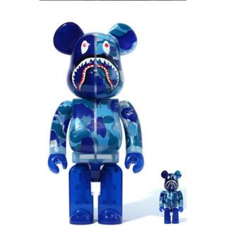 メディコムトイ(MEDICOM TOY)のBAPE bearbrick ベアブリック 400%  100%  Blue(その他)
