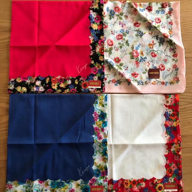 KENZO(ケンゾー)のKENZO  ハンカチ 4枚 レディースのファッション小物(ハンカチ)の商品写真