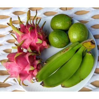 旬のフルーツセット♪ 台湾系島バナナ、ドラゴンフルーツ、グァバ(フルーツ)