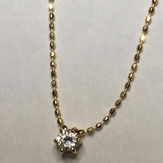 新品 未使用 ダイヤ ネックレス k18 18金 0.10カラット(ネックレス)