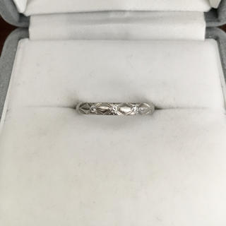 シャネル(CHANEL)のシャネル 3p ダイヤモンド マトラッセリング Pt950 2.5mm 2.8g(リング(指輪))
