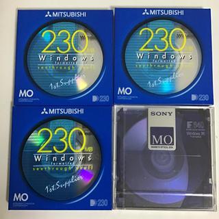 ミツビシ(三菱)のMOディスク 4枚セット(PC周辺機器)