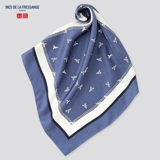 ユニクロ(UNIQLO)の新品 未使用 イネス・ド・ラ・フレサンジュシルクスカーフ(バンダナ/スカーフ)
