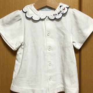 familiar - 日本製 襟 ブラウス