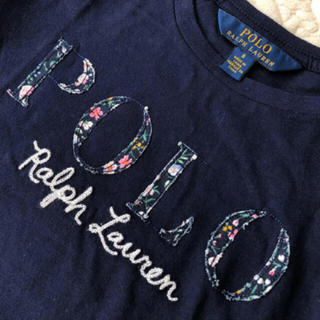 POLO RALPH LAUREN - ★新品★ラルフローレン★ロゴ刺繍 ロンT 長袖 カットソー★120★ネイビー★
