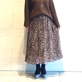 ニジュウサンク(23区)の23区 レオパード柄スカート(ひざ丈スカート)