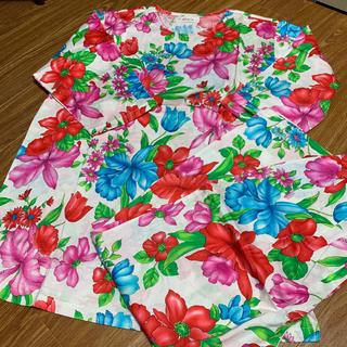シャルレ(シャルレ)のシャルレ 花柄七分袖パジャマ M(パジャマ)