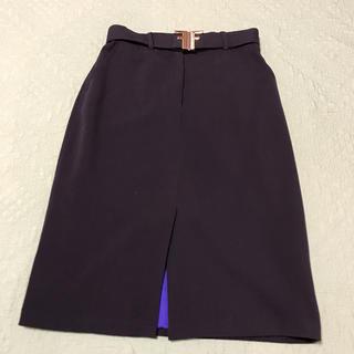 フェンディ(FENDI)のFENDI ベルト付きタイトスカート(ひざ丈スカート)