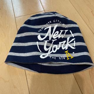 エイチアンドエム(H&M)のキッズ帽子 紺色ボーダー(帽子)