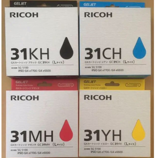 リコー(RICOH)のリコー インクカートリッジ GXカートリッジGC31 4色セット Lサイズ(PC周辺機器)