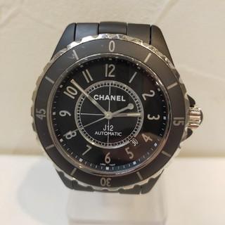 シャネル(CHANEL)のCHANEL シャネル 人気J12 H3131 メンズ マットブラック 42mm(腕時計(アナログ))