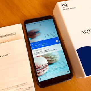 アクオス(AQUOS)のAQUOS SENSE2 SHV43 simフリー ブラック(スマートフォン本体)