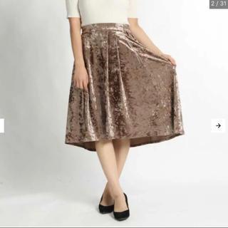 ウィゴー(WEGO)のWEGO* クラッシュベロアミディスカート(ひざ丈スカート)