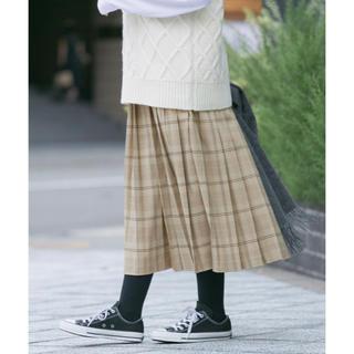 アーバンリサーチ(URBAN RESEARCH)のURBAN RESEARCH Sonny Label チェックプリーツスカート(ひざ丈スカート)