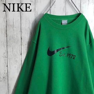 NIKE - 【美品】 【希少カラー】 ナイキ デカロゴ スウェット L相当 緑