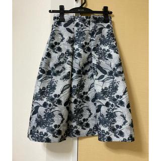ANAYI - 極美品☆ANAYI花柄ボックスプリーツスカート☆34サイズ