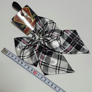 制服リボン 白×ピンク(小道具)