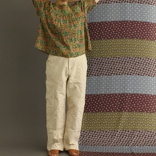 パーリッシィ(PAR ICI)のタケヤリ上綿10号帆布 ワークパンツ(カジュアルパンツ)