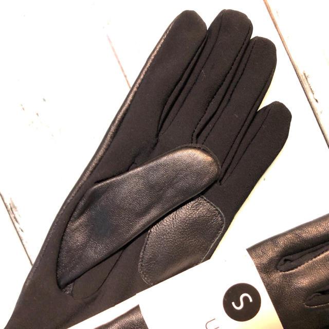 Calvin Klein(カルバンクライン)の羊レザー グローブ CK カルバンクライン  手袋 本革  黒 ブランド 新品 レディースのファッション小物(手袋)の商品写真