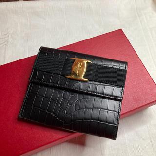 サルヴァトーレフェラガモ(Salvatore Ferragamo)のレア♡ヴィンテージ♡サルヴァトーレフェラガモ クロコ型押し折財布(財布)