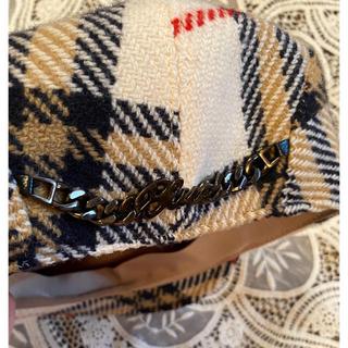 BURBERRY BLUE LABEL - Burberry London✴︎woolチェック✴︎ハンチング帽✴︎