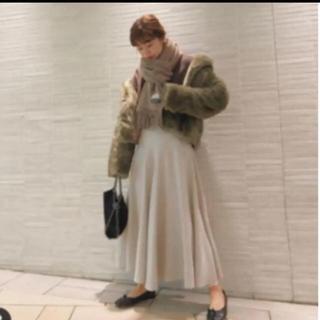 マウジー(moussy)のYOKE FLARE スカート(ロングスカート)