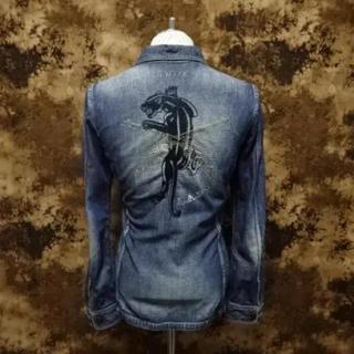 ロアー(roar)の超レア!!(定価62700)ロアーroar・パンサー刺繍×二丁拳銃デニムシャツ(シャツ)