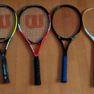 ウィルソン(wilson)のWilsonテニスラケット1本+おまけ3本+カバー(テニス)