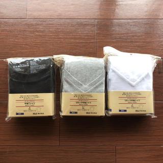 ムジルシリョウヒン(MUJI (無印良品))の無印良品 MUJI オーガニックコットンTシャツ メンズXL 3点セット(Tシャツ/カットソー(半袖/袖なし))