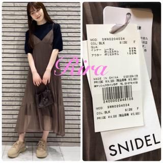 snidel - 完売色🌷新作新品🍀スナイデル シアーキャミレイヤードニットワンピース