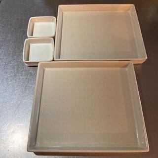 ムジルシリョウヒン(MUJI (無印良品))のFOUND MUJI スクエアプレート 大小2セット 最終価格(食器)