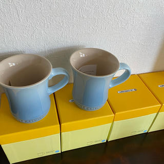 ルクルーゼ(LE CREUSET)のルクルーゼ  マグカップS コースタルブルー 2個(食器)