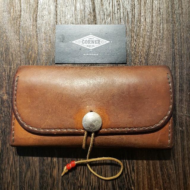 goro's(ゴローズ)の《中古》ゴローズ(goro's)三つ折り財布(赤茶)921 メンズのファッション小物(長財布)の商品写真