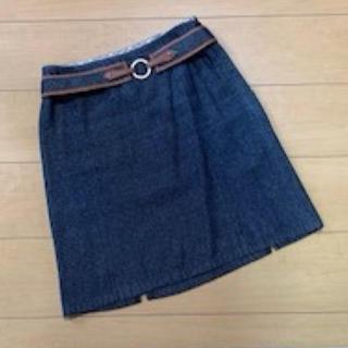バーバリーブルーレーベル(BURBERRY BLUE LABEL)のBurberry デニム スカート(ひざ丈スカート)
