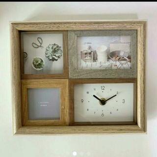 Francfranc - ラドンナ 時計つきフォトフレーム