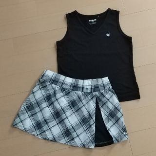 パラディーゾ(Paradiso)のテニスウェア ノースリーブ&スカート セット(ウェア)
