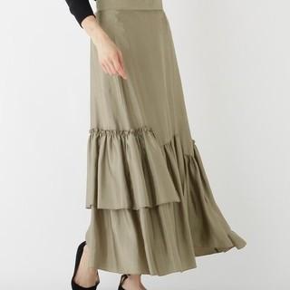 ドゥーズィエムクラス(DEUXIEME CLASSE)のDRESSTERIORドレープサテンティアードスカート (ロングスカート)