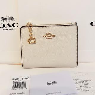 COACH - 【新品】COACH コーチ ホワイト 二つ折り カードケース 財布