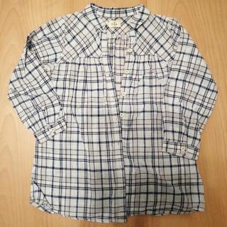 イッカ(ikka)のikka ブラウスシャツ 130cm  キッズ チェック(ブラウス)