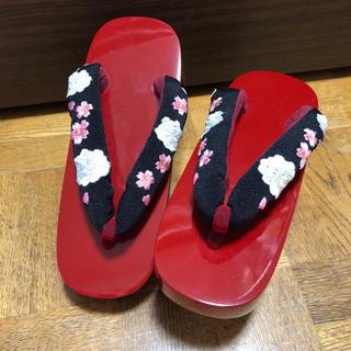 格安◆新品◆丸菊こっぽり◆サイズ23cm〜24.5cm(下駄/草履)