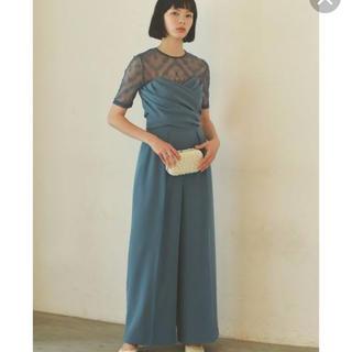 LagunaMoon - ラグナムーン クロスベア ドレス オールインワン パンツ ブルー 38