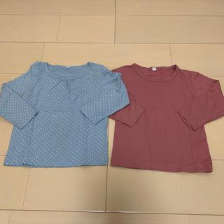 ムジルシリョウヒン(MUJI (無印良品))の無印良品 長袖 Tシャツ 100  女の子 まとめ売り(Tシャツ/カットソー)