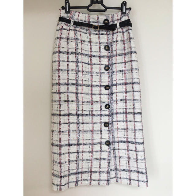 eimy istoire(エイミーイストワール)のeimy istoire チェックツイードベルトポイントスカート レディースのスカート(ロングスカート)の商品写真