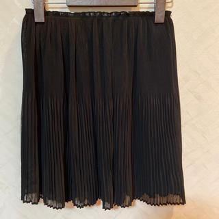 エイチアンドエム(H&M)のH&M プリーツ ミニスカート ブラック(ミニスカート)